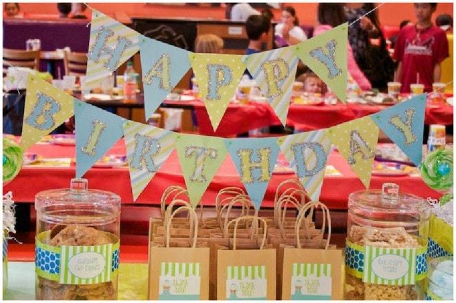 boy's happy birthday banner