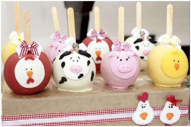 farmyard cake pops
