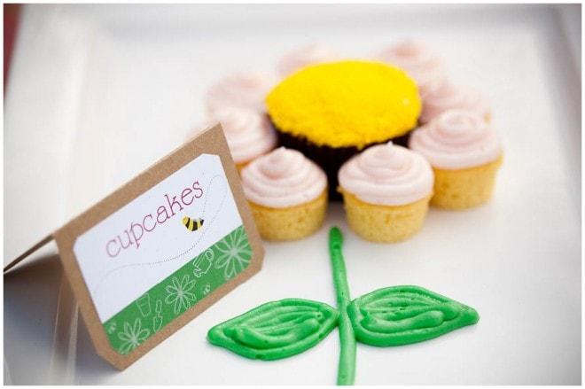 cupcake flower cake