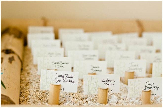 destination wedding escort cards