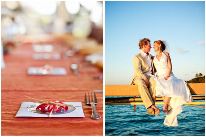 destination wedding table