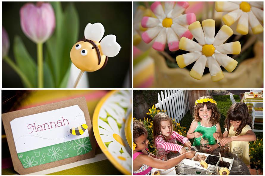 Little Girls Gardening Birthday Party Pizzazzerie