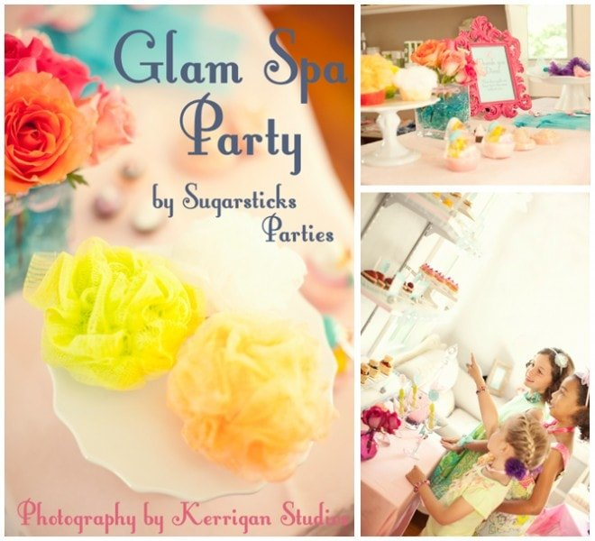 glam spa girls' party