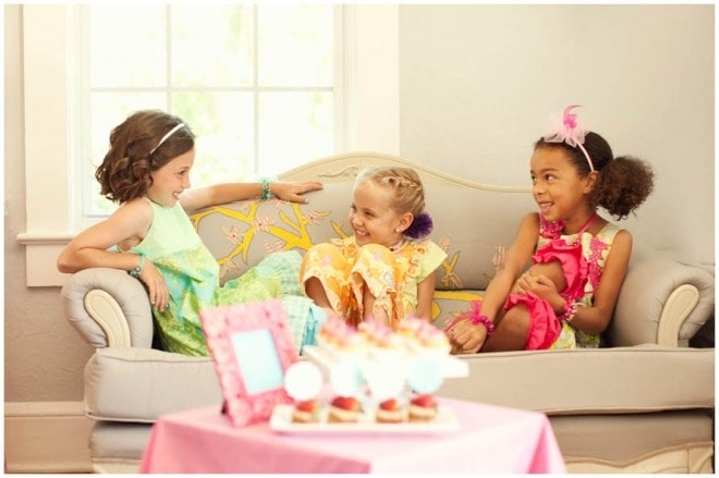 glam children's spa party
