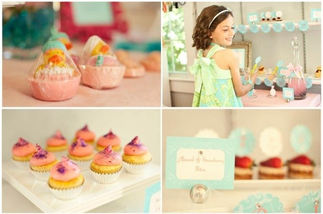 glam spa pastel party 5