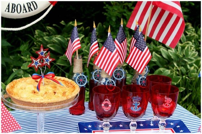 july 4th nautical party table 3