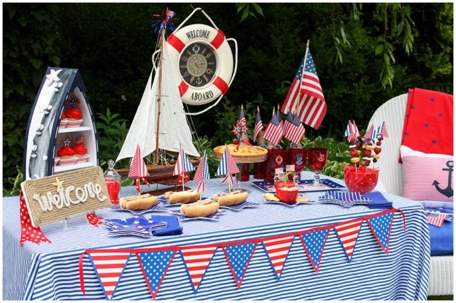 july 4th nautical party table 7