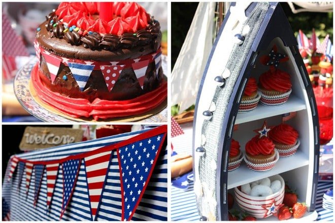 july 4th nautical party table 96