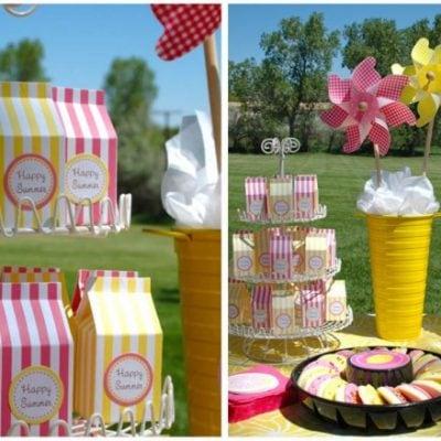 kindergarten graduation lemonade party