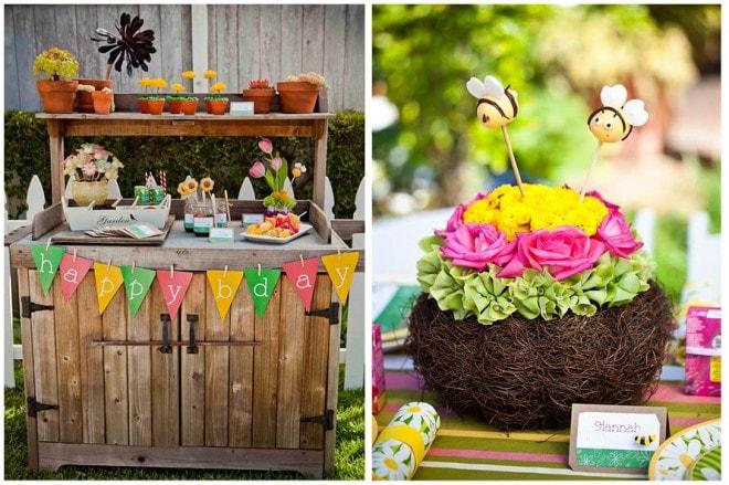 little girls' gardening birthday party ideas