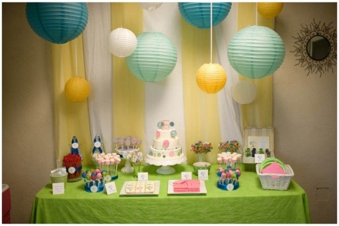 lollipop birthday table