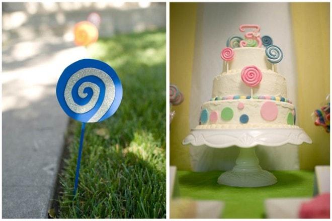 lollipop 3rd birthday party