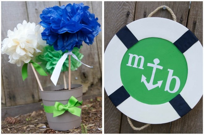 nautical wedding shower