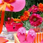 pink orange girls' summer party