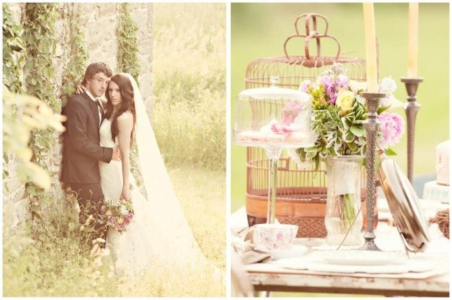 spring vintage wedding styled shoot