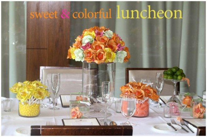 sweet colorful luncheon for 15