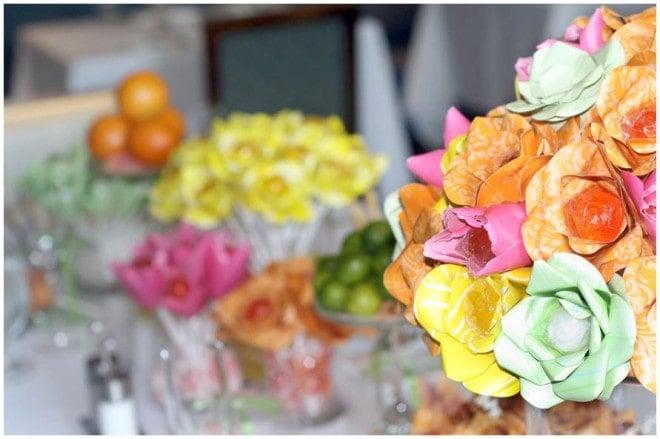 paper flowers centerpieces