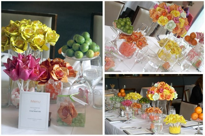 sweet and colorful luncheon in washington, dc