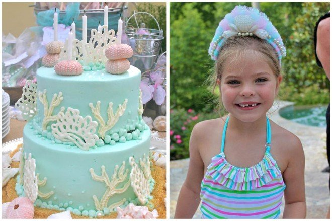 under the sea birthday party cake