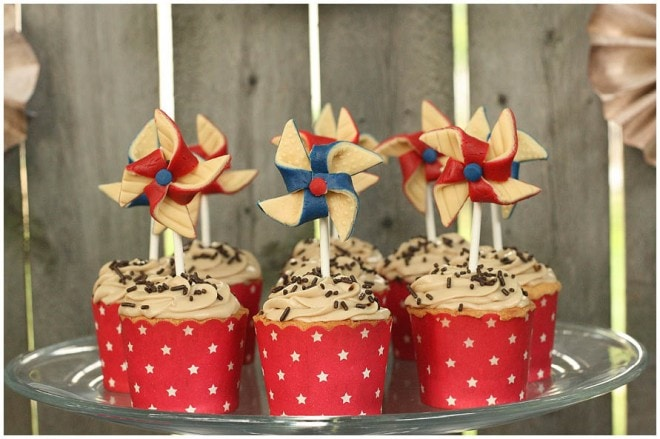 vintage wwII dessert table july 4th 3