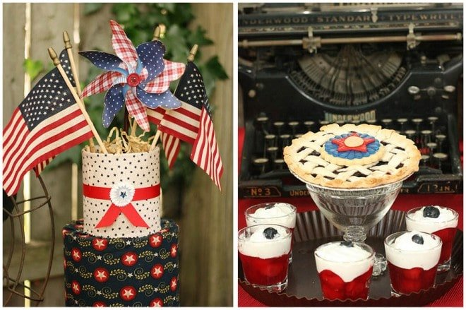 vintage wwII dessert table july 4th 6