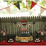 vintage wwII dessert table july 4th