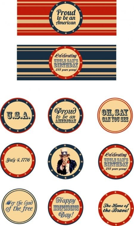{Freebie} 4th of July Patriotic Printables | Pizzazzerie