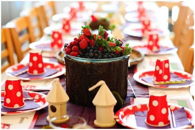 woodland fairy birthday table