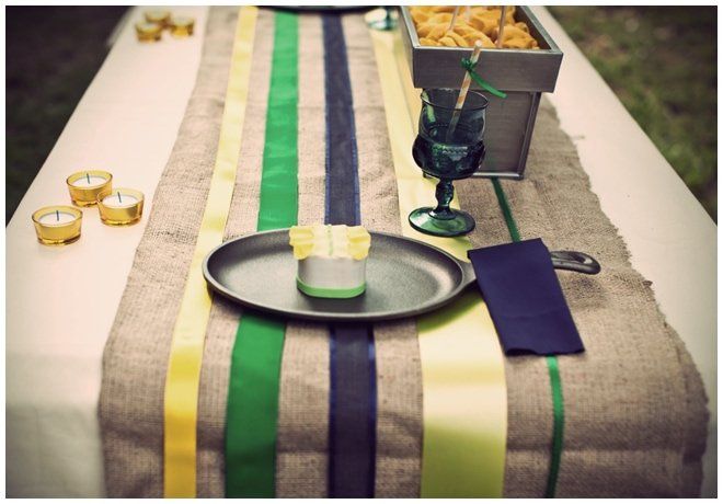 striped lemonade tablescape date night