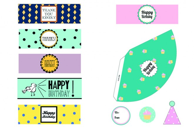 free birthday party labels