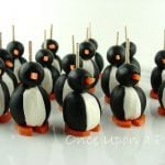 olive cream cheese penguins