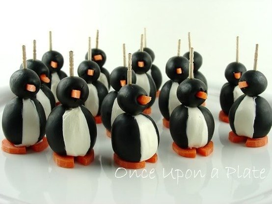 Cute Olive Penguin Appetizers!