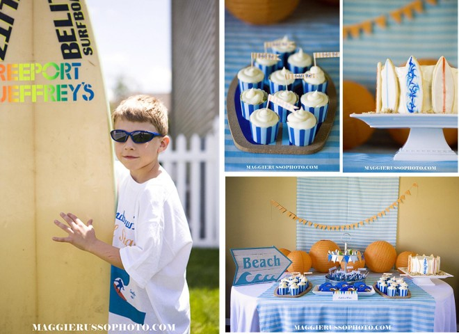 surfer birthday party details