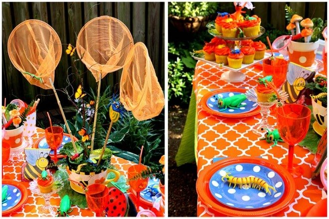 bug birthday party centerpiece