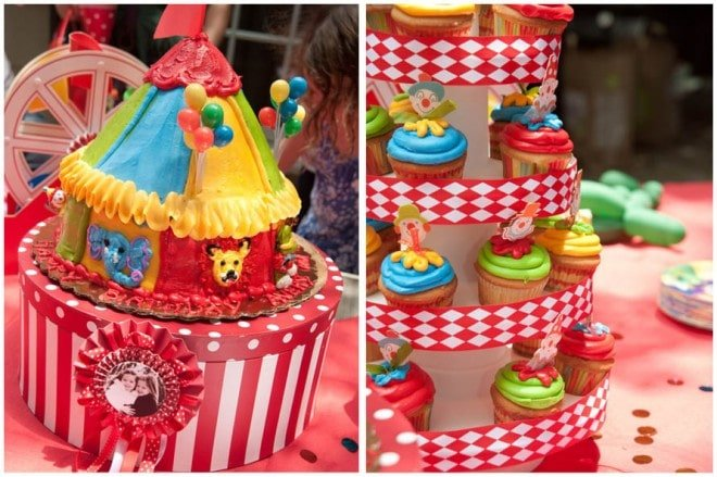 circus carnival party cake