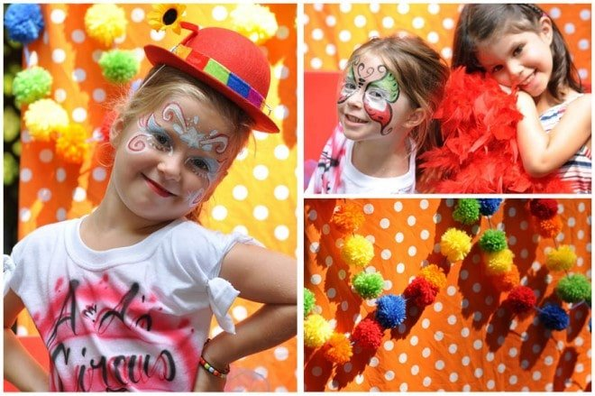 circus carnival party photo booth