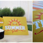 free summer grill party printables