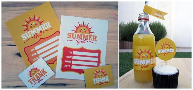 free summer grill party printables 2