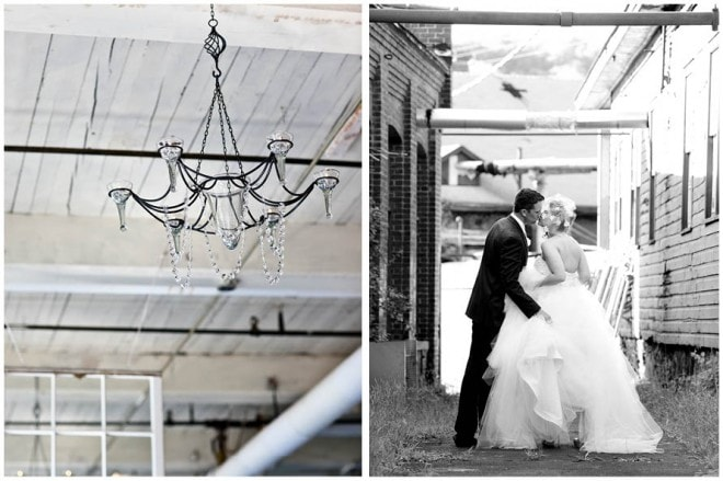 wedding chandelier black and white