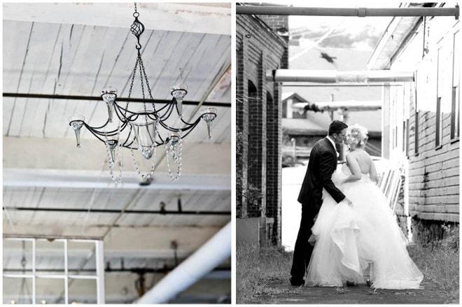 wedding chandelier black and white