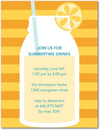 lemonade party invitation