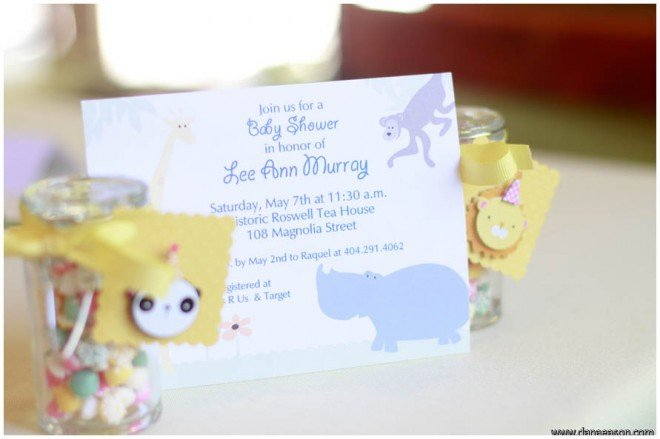 jungalow animal baby shower