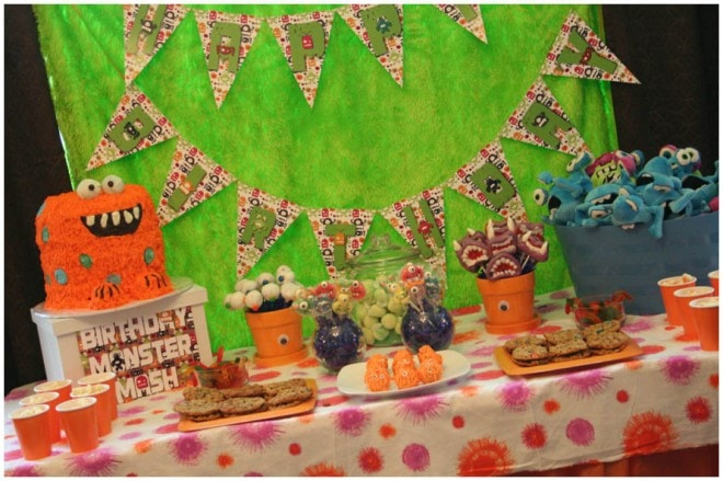 monster birthday bash party