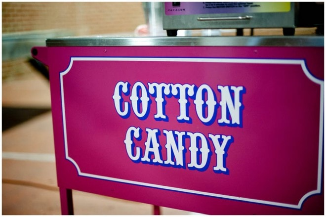 cotton candy at wedding