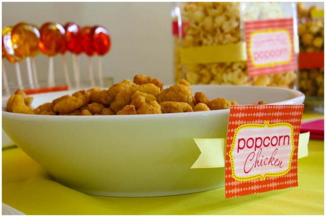 popcorn chicken party