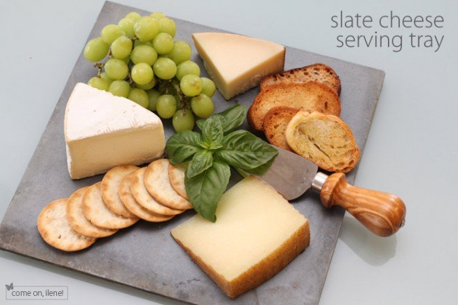 slate cheese serving tray diy