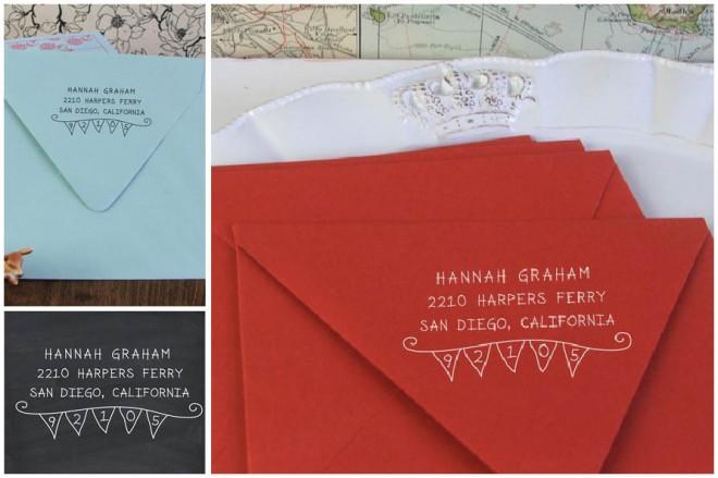 stamped return address