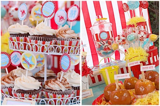summer carnival tablescape
