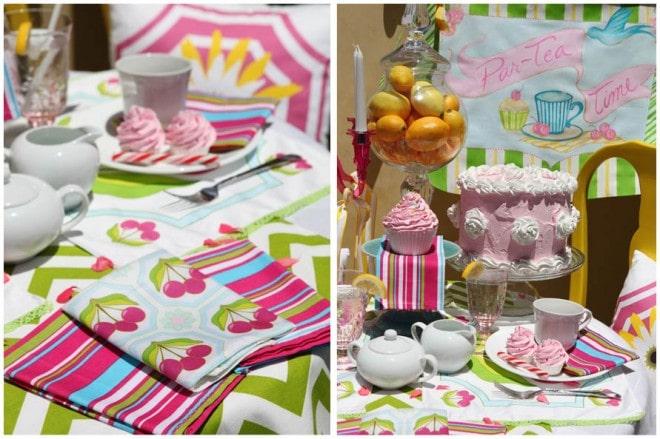 summer tea party tablescape 2