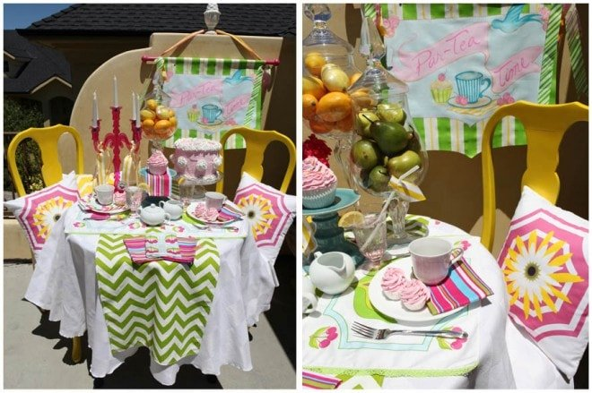 summer tea party tablescape
